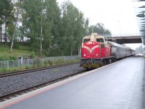 De trein arriveert