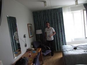 In het hotel