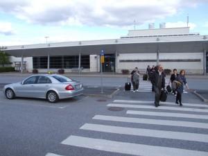 Ingang van het vliegveld van Vaasa