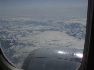 Uitzicht vanuit de 737-300 van KLM