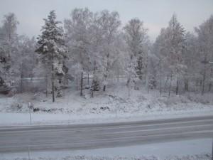 Sneeuw in Vaasa
