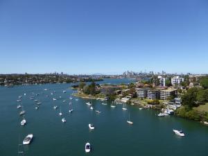Stadsuitzicht verderop in Sydney