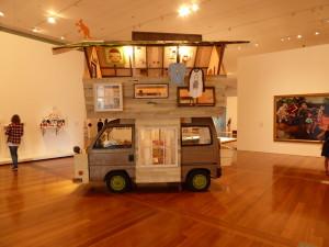 Interessant en kunstzinnige camperwagen.