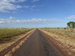 Sommige wegen waren nog wat minder ontwikkeld. Gelukkig geen roadtrains op deze wegen tegengekomen.