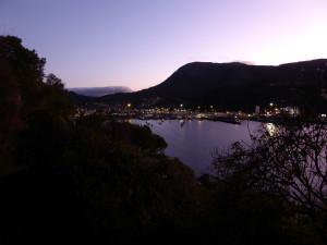 Picton bij nacht