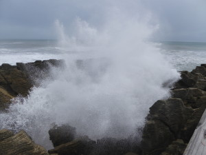 Pancake rocks blowhole